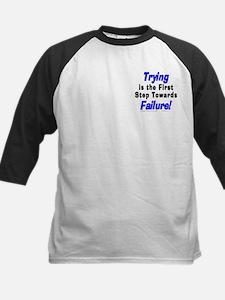 Trying/Failure! Kids Baseball Jersey