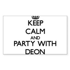 Keep Calm and Party with Deon Decal