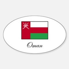 Oman - Omani Flag Oval Decal