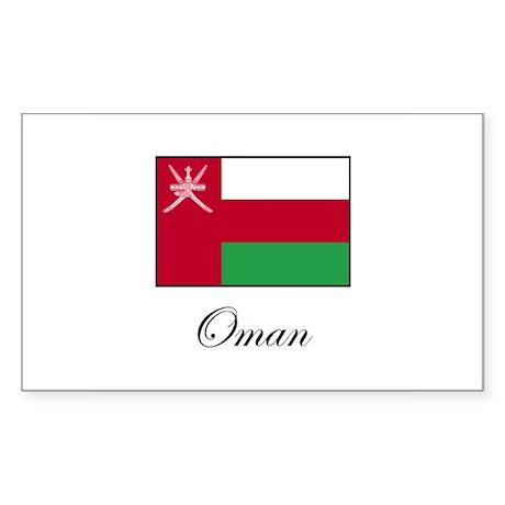 Oman - Omani Flag Rectangle Sticker