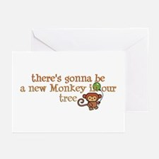 New Monkey in Our Tree Greeting Cards (Package of