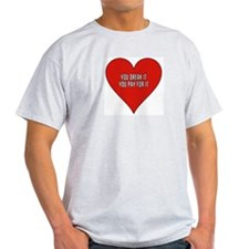 HEARTBREAK Ash Grey T-Shirt