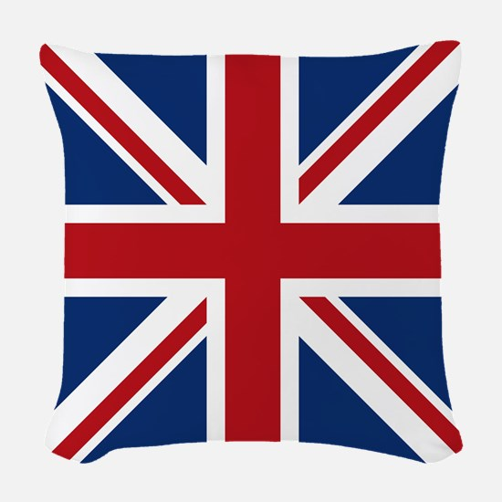 union-jack_18x18 Woven Throw Pillow