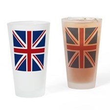union-jack_18x18 Drinking Glass