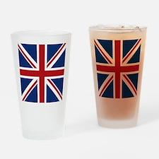 union-jack_18x18 Drinking Glass