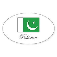 Pakistan - Pakistani Flag Oval Decal
