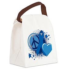 Colon-Cancer-PLC-blk Canvas Lunch Bag