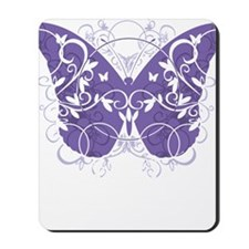 Fibromyalgia-Butterfly-blk Mousepad