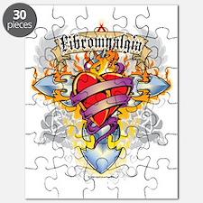 Fibromyalgia-Cross--Heart Puzzle