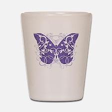 Fibromyalgia-Butterfly-blk Shot Glass