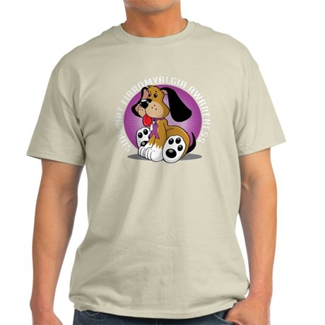 Fibromyalgia-Dog-blk Light T-Shirt
