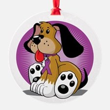 Fibromyalgia-Dog-blk Ornament