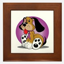 Fibromyalgia-Dog-blk Framed Tile