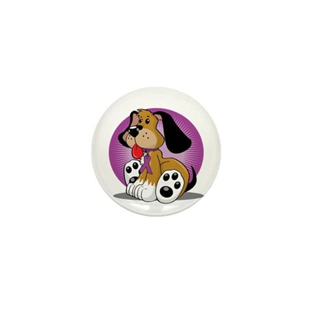 Fibromyalgia-Dog-blk Mini Button