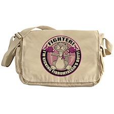 Fibromyalgia-Fighter-Cat Messenger Bag