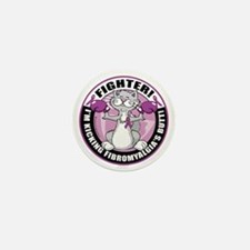 Fibromyalgia-Fighter-Cat Mini Button