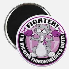 Fibromyalgia-Fighter-Cat Magnet
