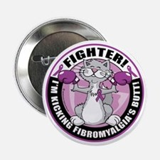 "Fibromyalgia-Fighter-Cat 2.25"" Button"
