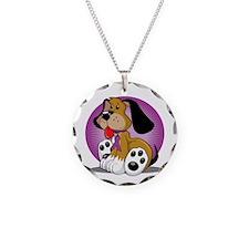 Fibromyalgia-Dog-blk Necklace