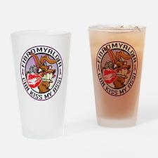 Fibromyalgia-Kiss-My-Ass Drinking Glass