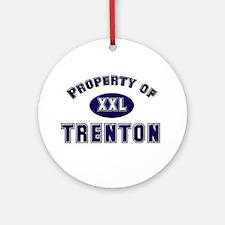 My heart belongs to trenton Ornament (Round)