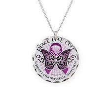 Fibromyalgia-Butterfly-Triba Necklace