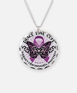 Fibromyalgia-Butterfly-Triba Necklace