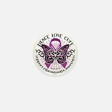 Fibromyalgia-Butterfly-Tribal Mini Button