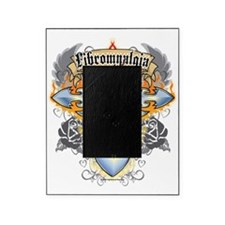 Fibromyalgia-Cross--Heart-blk Picture Frame