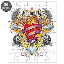 Fibromyalgia-Cross--Heart-blk Puzzle
