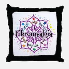 Fibromyalgia-Lotus Throw Pillow