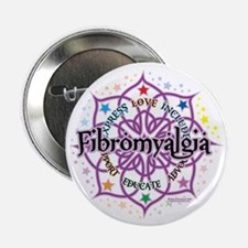 "Fibromyalgia-Lotus 2.25"" Button"
