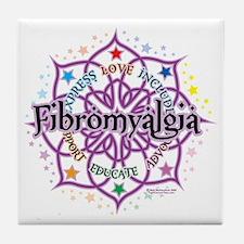 Fibromyalgia-Lotus Tile Coaster