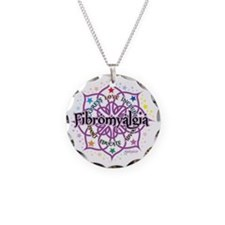 Fibromyalgia-Lotus Necklace Circle Charm