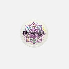 Fibromyalgia-Lotus Mini Button