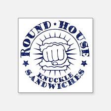 """round-house-LTT Square Sticker 3"""" x 3"""""""