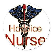 CAD. Hospice Nurse  Round Car Magnet