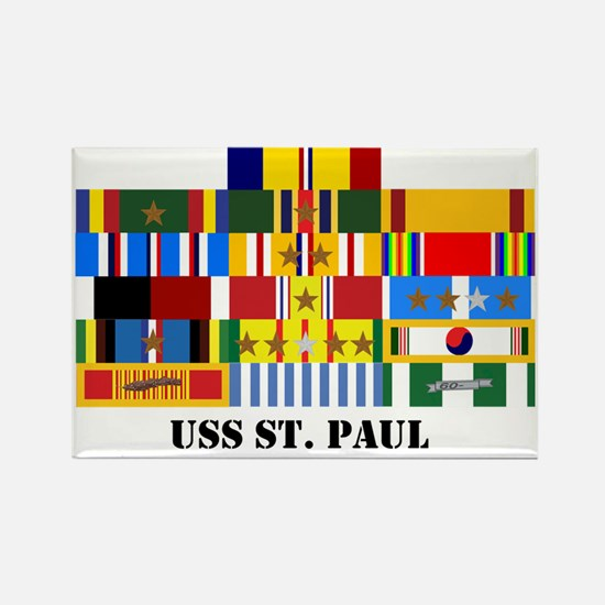 uss-st-paul-group-text Rectangle Magnet