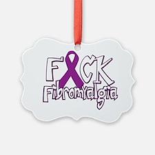 Fuck-Fibromyalgia-blk Ornament