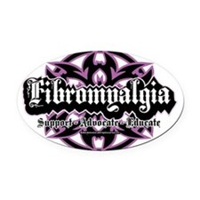 Fibromyalgia-Tribal Oval Car Magnet