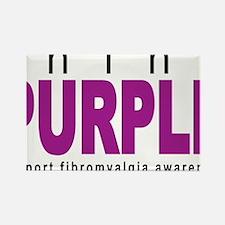 think-PURPLE-Fibromyalgia Rectangle Magnet