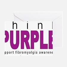 think-PURPLE-Fibromyalgia Greeting Card