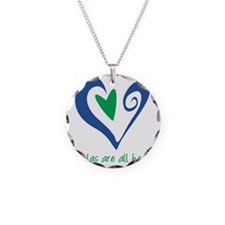 DoulasAllHeartTorquoise225 Necklace Circle Charm