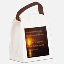 what the world needs5.25 Canvas Lunch Bag