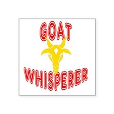 "goat whisperer dark Square Sticker 3"" x 3"""
