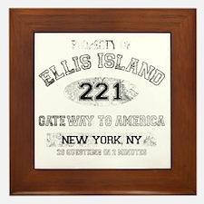 ellis island dark Framed Tile