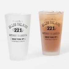 ellis island dark Drinking Glass