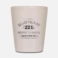 ellis island dark Shot Glass