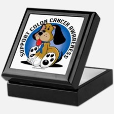 Colon-Cancer-Dog Keepsake Box