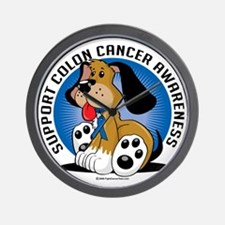 Colon-Cancer-Dog Wall Clock